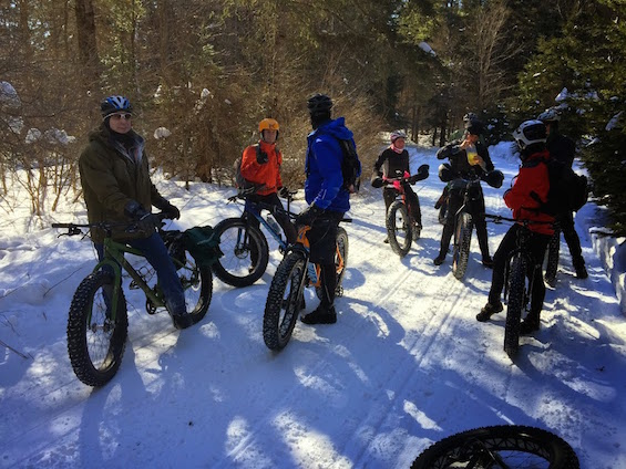 """Part of the """"epic"""" group regrouping on the trail."""